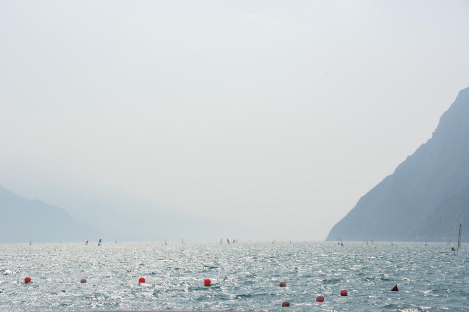Riva del Garda, lake, windsurfers