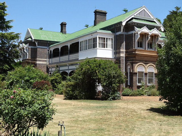Saumarez homestead near Armidale built in 1888 for Francis White a wealthy pastoralist. Second storey added in 1905 when his wife went to England for a year.