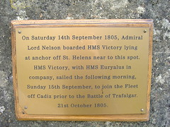 Photo of Horatio Nelson brass plaque