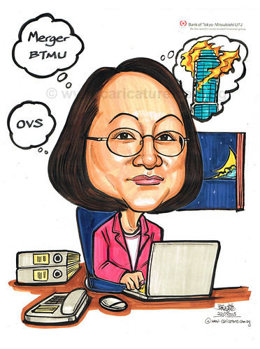 boss caricature for The Bank of Tokyo-Mitsubishi UFJ