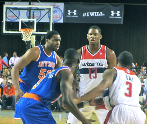 Washington, wizards, new york knicks, Baltimore, Baltimore arena, nba, preseason,  Baltimore classic, bullets, truth about it, adam mcginnis, kevin seraphin, bradley beal, tim hardaway jr, ike diogu