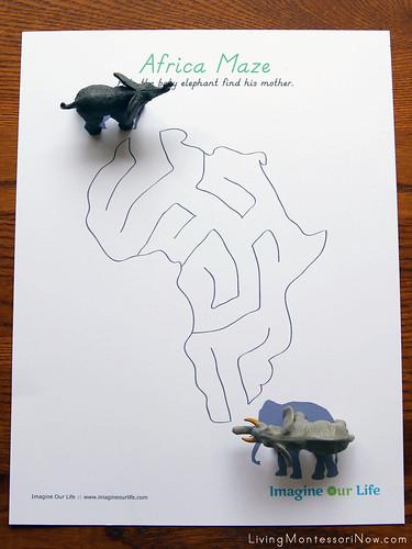 Africa Maze Activity