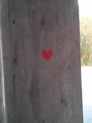 pillar heart stone