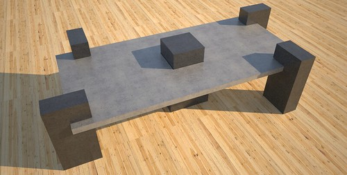 Contemporary concrete tables and benches, concept design and production by 108.167.189.34