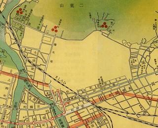 大廣島市街地圖 昭和15年 広島駅周辺 廣文館 丸岡才吉