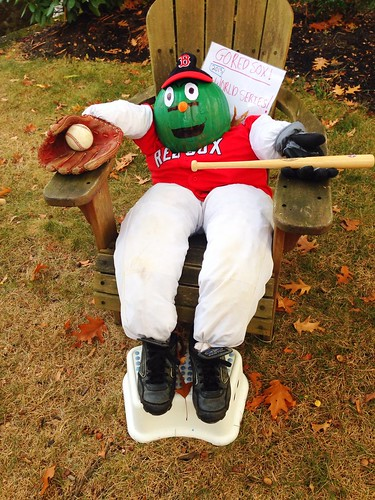 Wally the Green Monster, Mascot of the Boston Red Sox via MealMakeoverMoms.com/kitchen