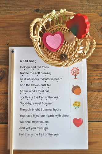 Fall Poetry Basket