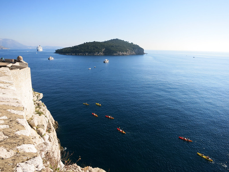 Kayakers in the Adriatic Sea