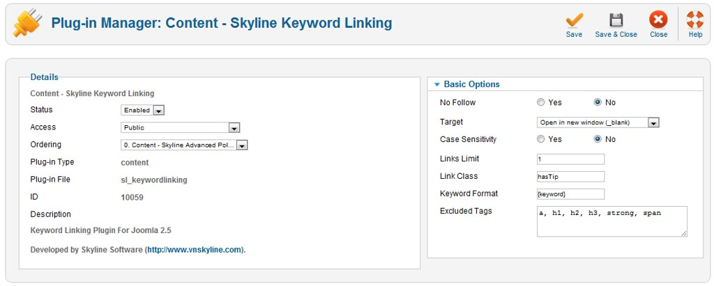 Skyline Keyword Linking