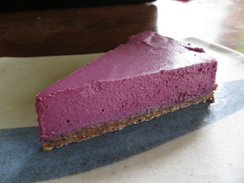 mixed berry raw vegan cheesecake