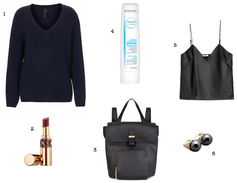 Topshop cashmere jumper Whistles Portland backpack Bioderma Hydrabio mask