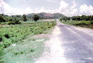 Chau Doc 1973 - Road south to refugee camp and Cambodian border
