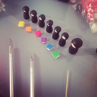 #365daysofmydesk making a set of rainbow reading ninjas :)