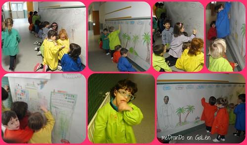 Día da Paz Mandela mural EI 2