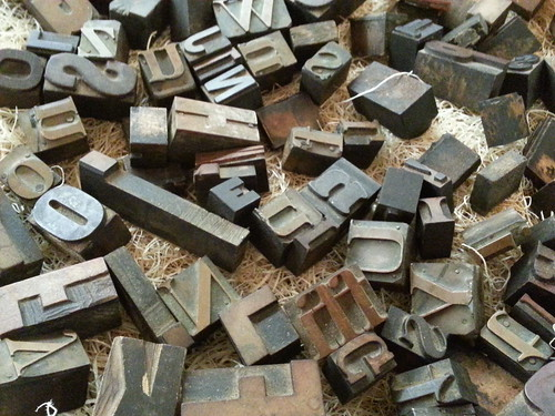 Metal and wooden letter stamps