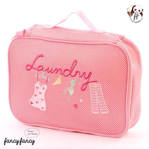05.長方型洗衣+旅行收納內衣兩用袋-粉紅色