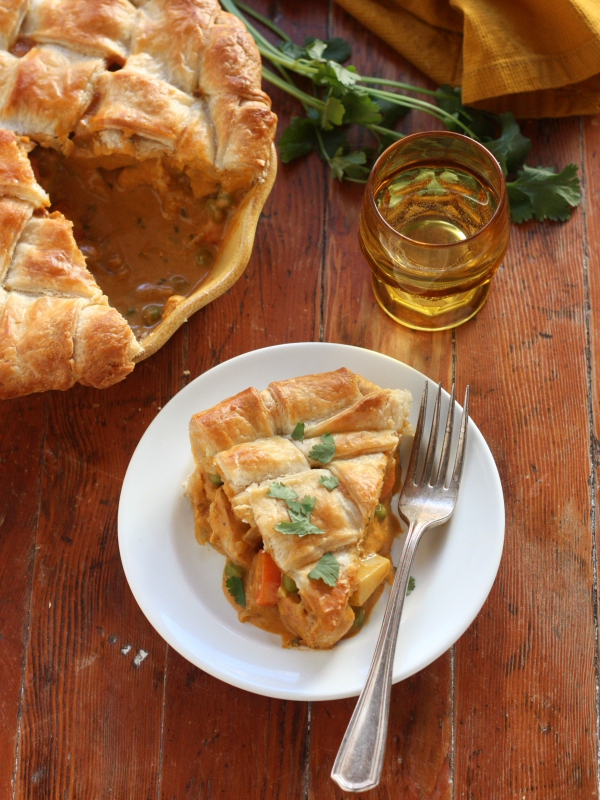 Coconut Curry Chicken Pot Pie from completelydelicious.com