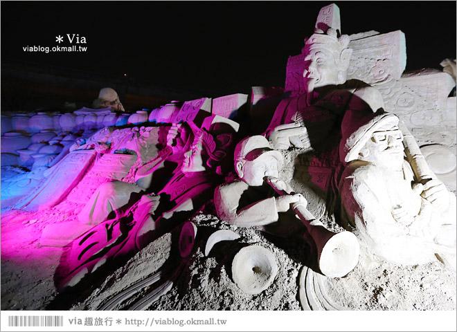 【2014台灣燈會在南投】南投沙雕燈會~夜間點燈好浪漫!還有精彩光雕秀16