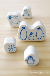 Penguin stamp set