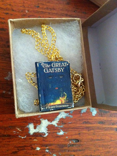 the great gatsby, classic book necklace, the great gatsby necklace, miniture necklace, miniture book