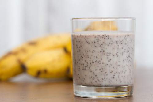 Banana and chia coconut pudding. Banaani-kookosepuding chia-seemnetega.