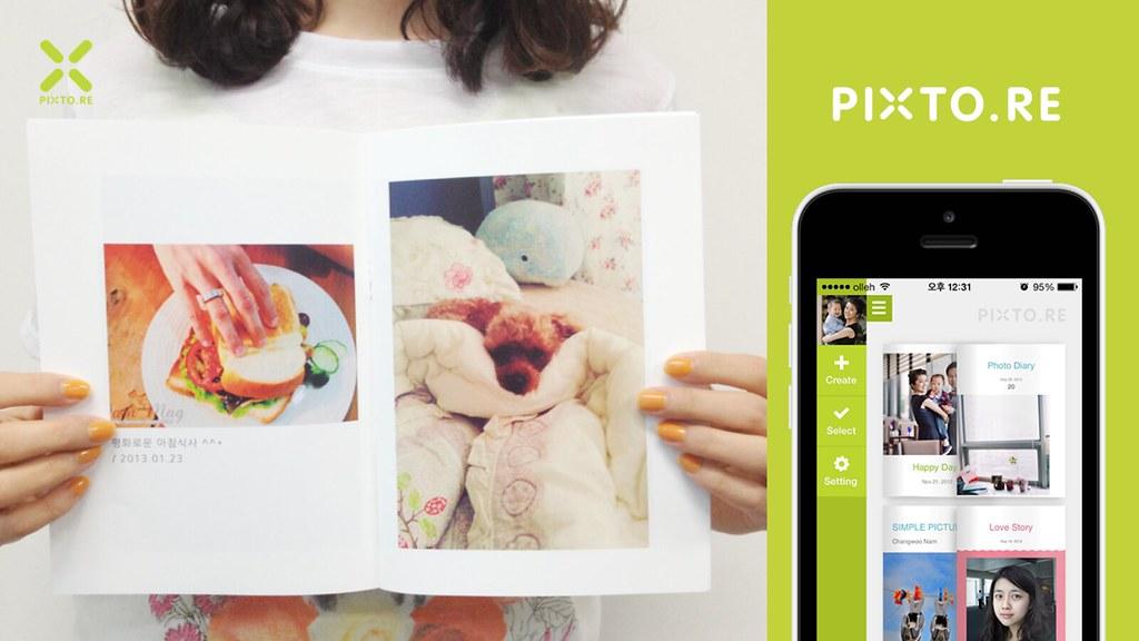 픽스토어의 가장 큰 장점은 역시 귀찮은 편집과정 없이 원터치로 쉽고 빠르게 사진첩을 만들어주는 것. 사용자가 20장의 사진을 선택하기만 하면 1분 안에 아름다운 사진책이나 잡지를 e북으로 만들어 보여준다. 이렇게 만들어진 e북은 종이책을 넘겨 읽듯이 감상할 수도 있으며, 인쇄가 가능한 PDF 파일로도 지원된다. @www.pixto.re