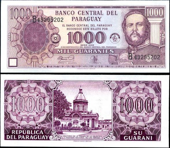 1000 Guaranies Paraguaj 2002, Pick 221