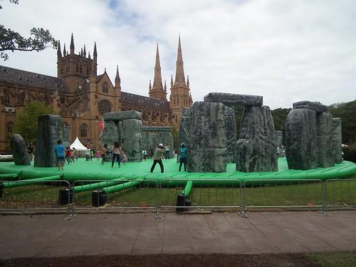 Stonehenge jumping castle - Hyde Park Sydney NSW