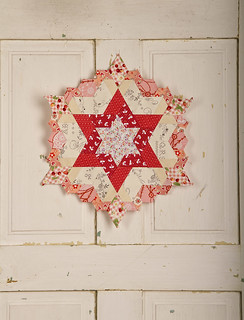 English-Paper-Pieced Star progress shot