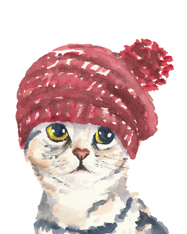 3-illustrazione-acquerello-watercolor-stampa-gatto