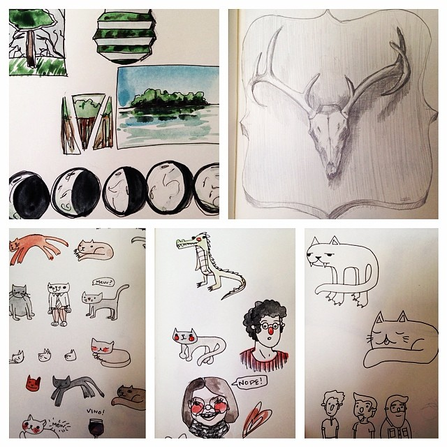 A peek into my extremely scatterbrained sketchbook.