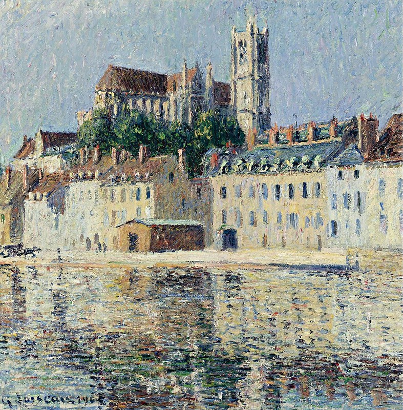 Gustave Loiseau - The Cathedral at Auxserre (1902)