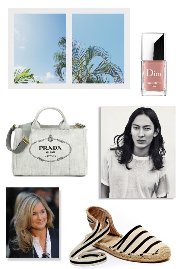 בלוג אופנה, אלכסנדר וונג, תיק פראדה, אנגלה ארנדטס, אספדריל, alexander wang, angela ahrendts, prada beach bag, soludos espadrilles