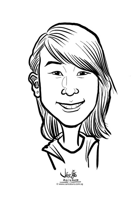 digital live caricature sketching for National Heart Centre Singapore -21