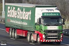 Volvo FH 6x2 Tractor - PX10- DJF - Christine Claire - Eddie Stobart - M1 J10 Luton - Steven Gray - IMG_0887
