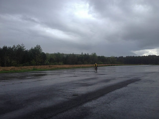 Alan on the airstrip