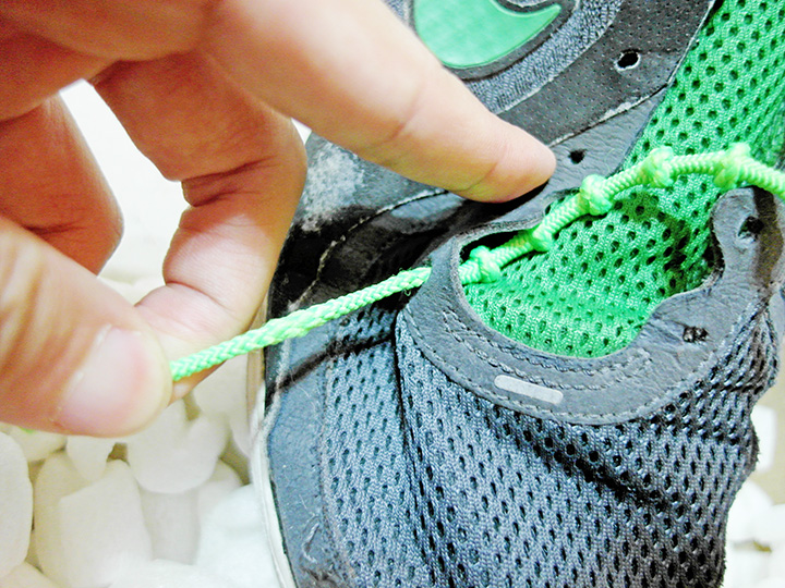 putting on XTENEX® Laces 1