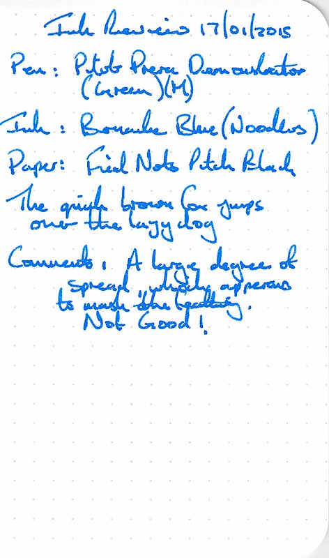 Noodler's Bernanke Blue Ink Review - Field Notes