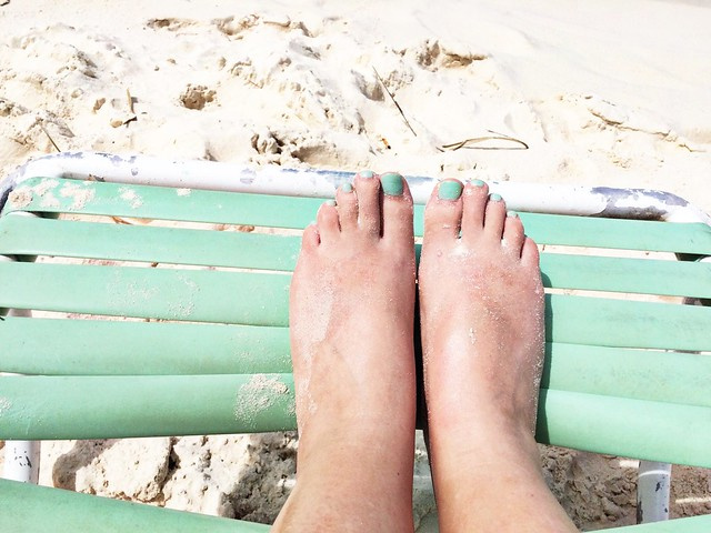 my toes match the chair - that's all