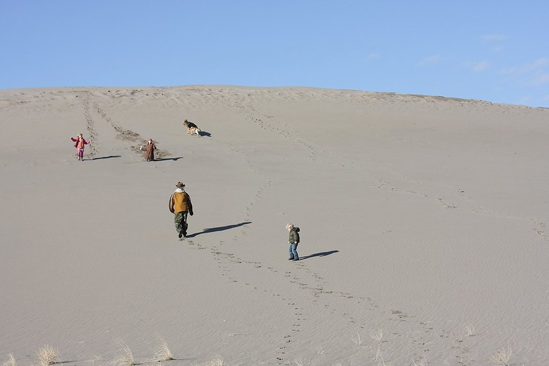 i promise the dune was much steeper than it looks