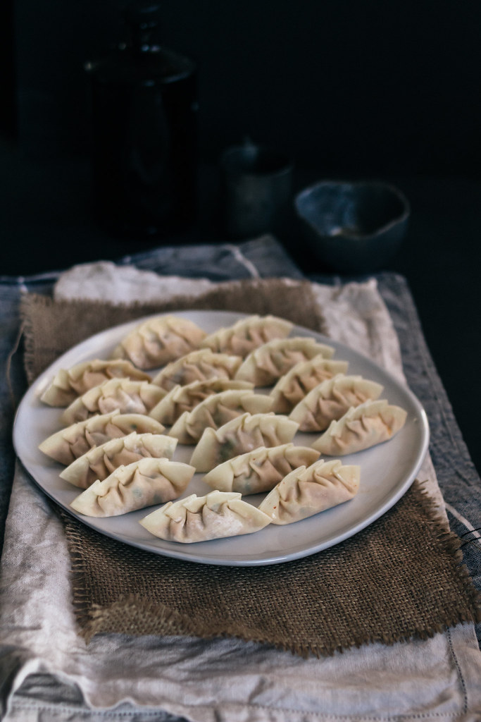 Korean Tofu & Kimchi Pan-Fried Dumplings