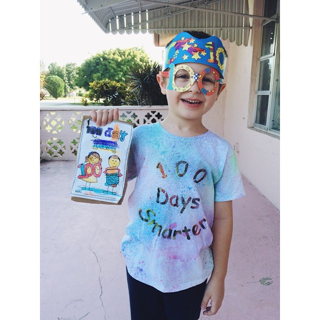 This is so cute! Zachary had a great #100daysofschool day today! #kids #kindergarten #boymom