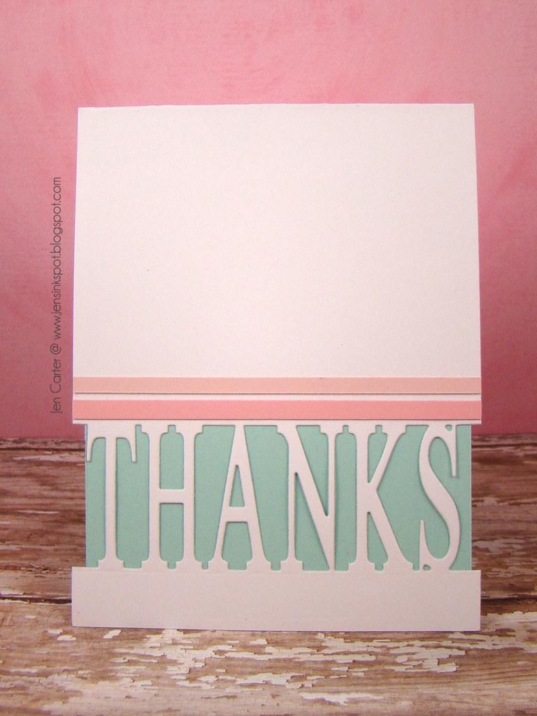 Jen Carter Thanks Lilac Pop Up Frantic Stamper