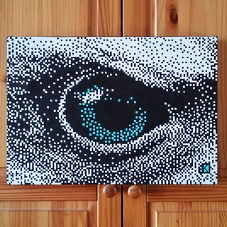 Another eye || Another vision 4 / 4  Handmade canvas 35x50cm