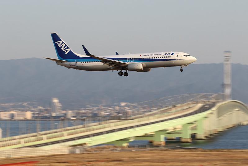 Kansai International Airport 2015.2.14 (10) ANA's B737-800/ JA77AN