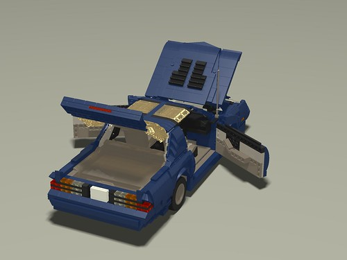 1987 Camaro IROC-Z rear upper right everything open