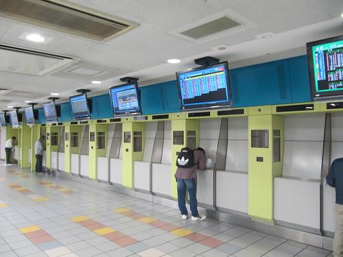 京都競馬場の券売機跡