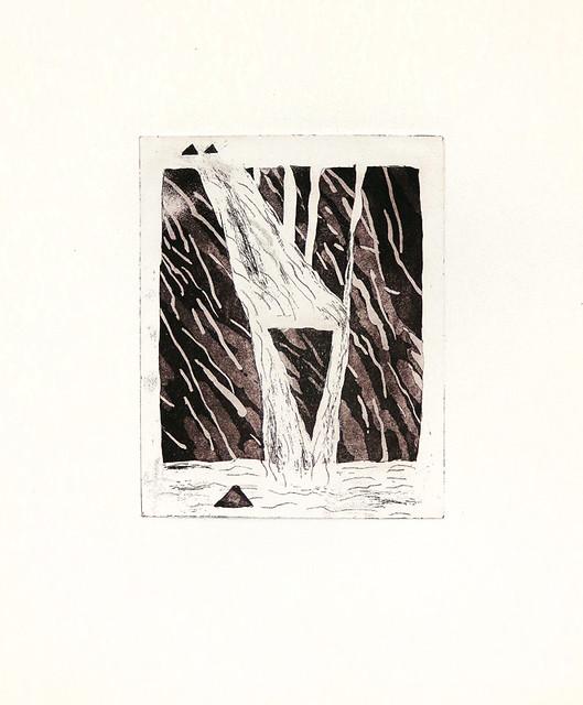 Litho Print of Englishman's Falls on Vancouver Island