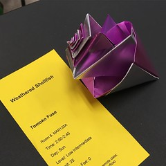 Great clases with Tomoko Fuse! #origami #convention #ousa2016