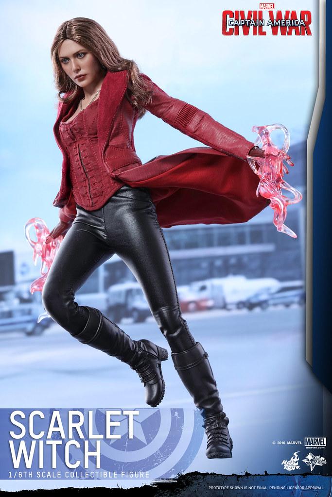 Hot Toys – MMS370 – 美國隊長3:英雄內戰【緋紅女巫】Scarlet Witch 1/6 比例人偶作品